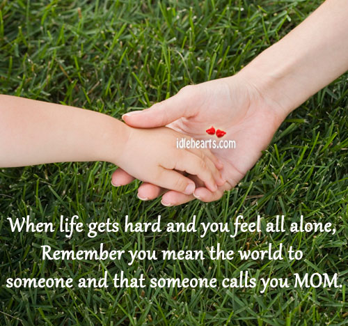 You are alone in life