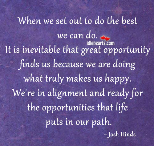 When we set out to do the best we can do. Image