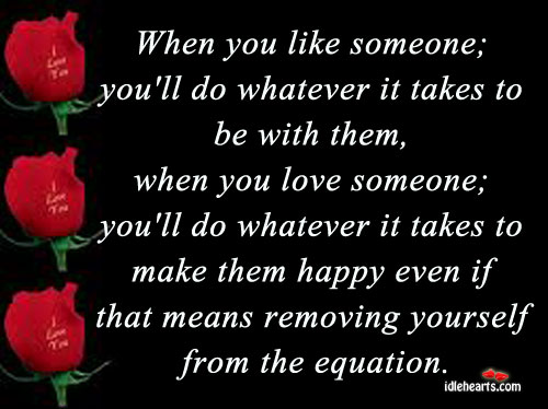 When you like someone, you'll do whatever it takes. Love Someone Quotes Image