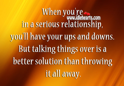 Don't Throw It Away