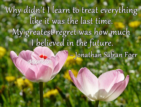Image, Why didn't I learn to treat everything like it