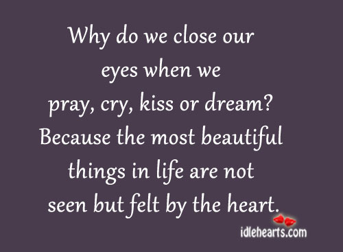 Why Do We Close Our Eyes When We….