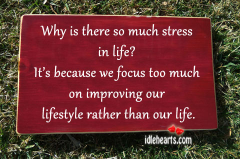 Image, Because, Focus, Improving, Life, Lifestyle, Much, Our, Rather, Stress, Than, Too, Too Much, Why