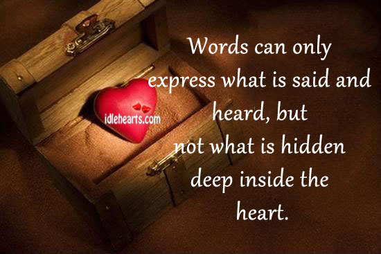 Words Can Only Express What Is Said And Heard…