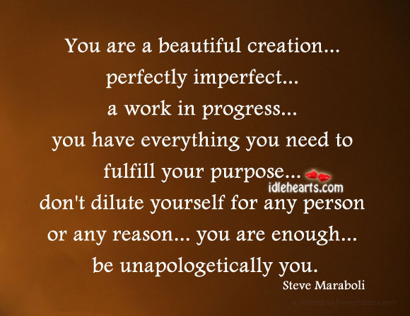 You Are A Beautiful Creation