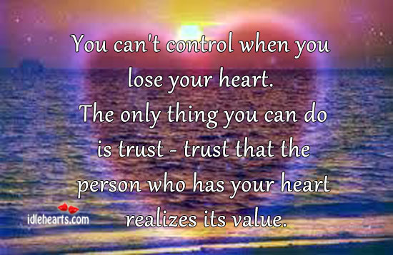 You can't control when you lose your heart. Image