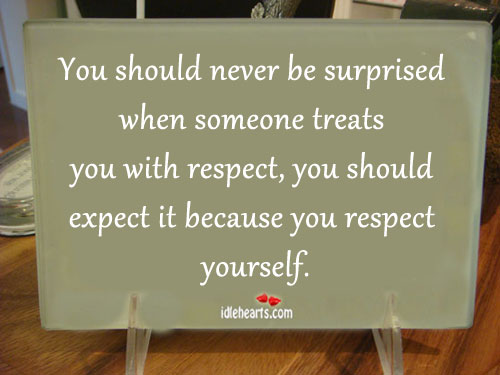 You Should Never Be Surprised When Someone Treats…