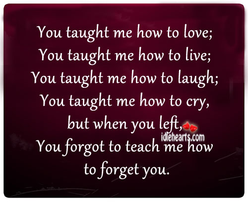 You Forgot To Teach Me How To Forget You…