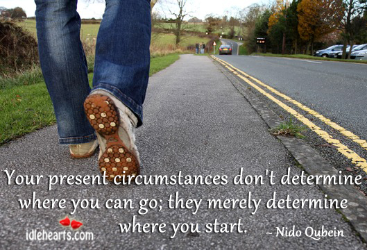 Your present circumstances don't determine where you can go Nido Qubein Picture Quote