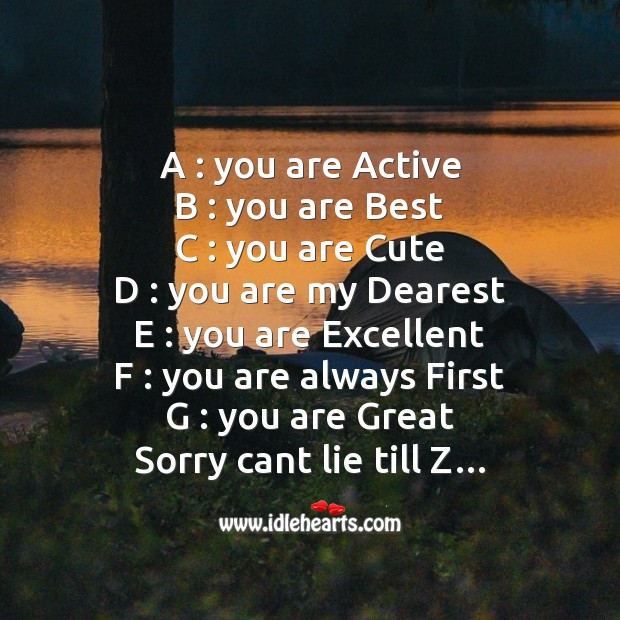 A : you are active b : you are best Funny Messages Image