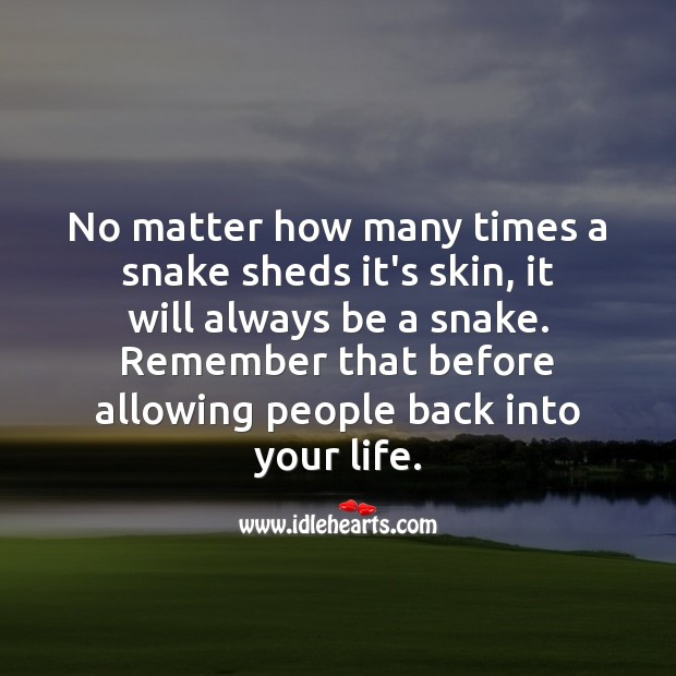 A advice before allowing people back into your life. People Quotes Image