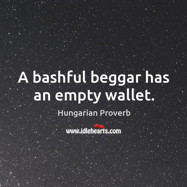 Image, A bashful beggar has an empty wallet.