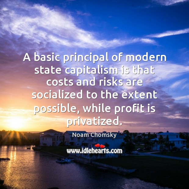 A basic principal of modern state capitalism is that costs and risks Capitalism Quotes Image