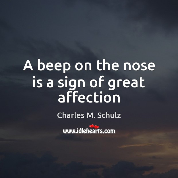 Image, A beep on the nose is a sign of great affection
