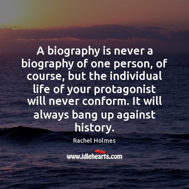 A biography is never a biography of one person, of course, but Image