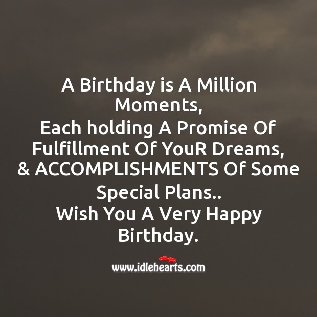 A birthday is a million moments Image