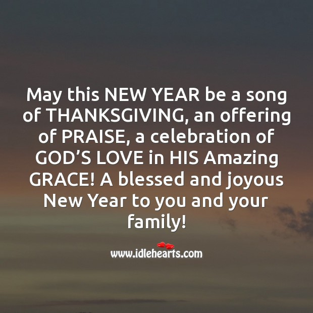 Image, A blessed and joyous New Year to you and your family!