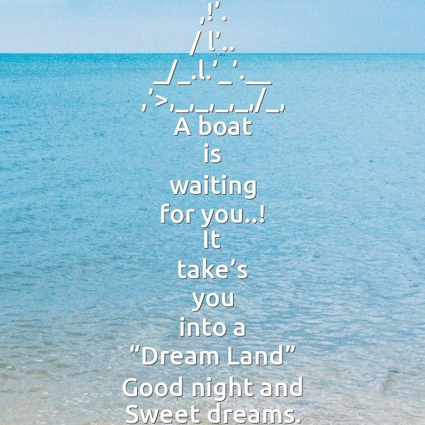 Image, A boat is waiting for you..!