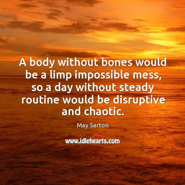 A body without bones would be a limp impossible mess, so a Image