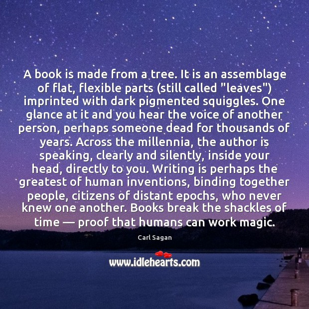 Image, A book is made from a tree. It is an assemblage of