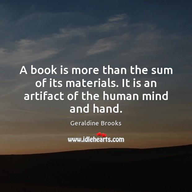Image, A book is more than the sum of its materials. It is