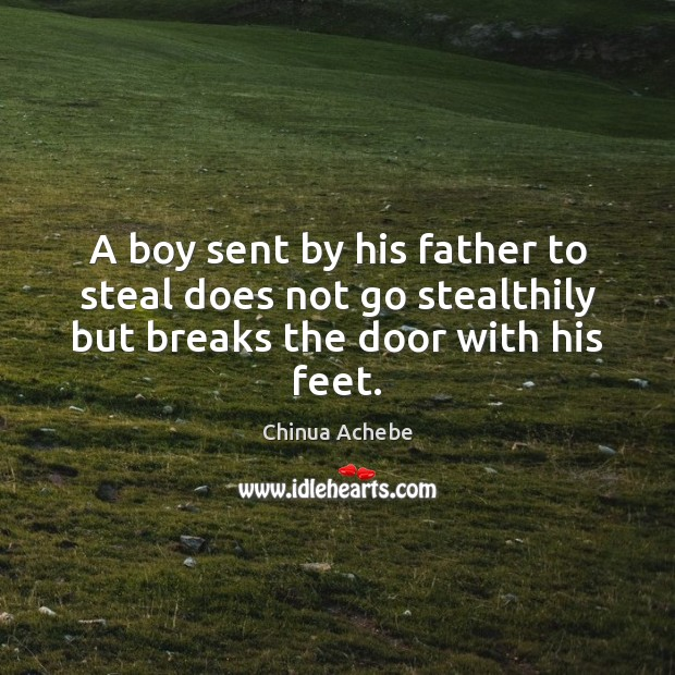 Image, A boy sent by his father to steal does not go stealthily