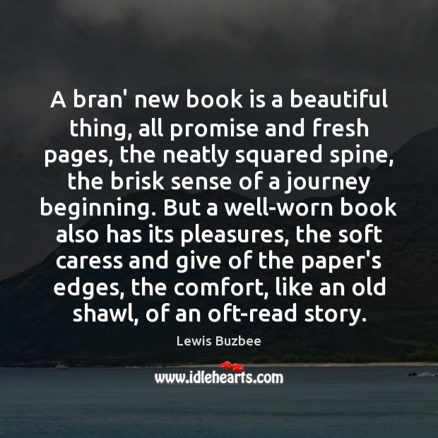 A bran' new book is a beautiful thing, all promise and fresh Image