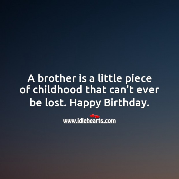Birthday Messages for Brother