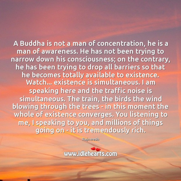 Image, A Buddha is not a man of concentration, he is a man