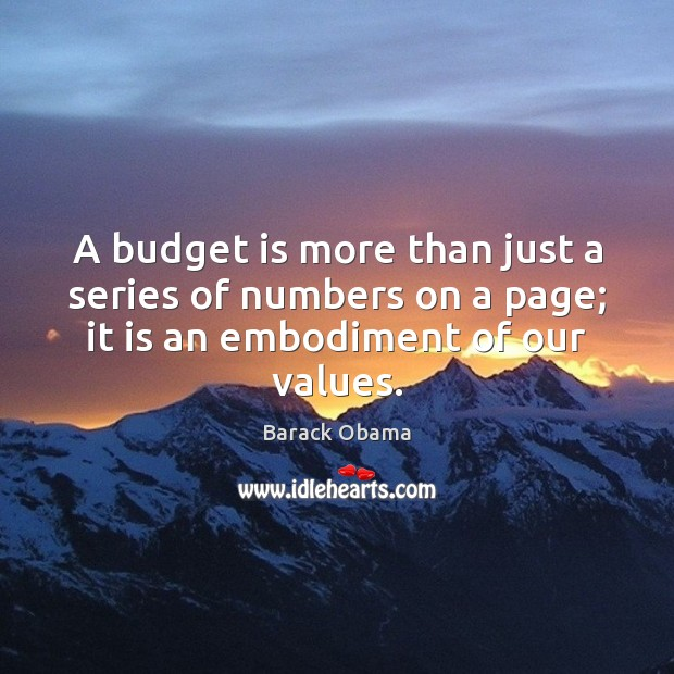A budget is more than just a series of numbers on a Image