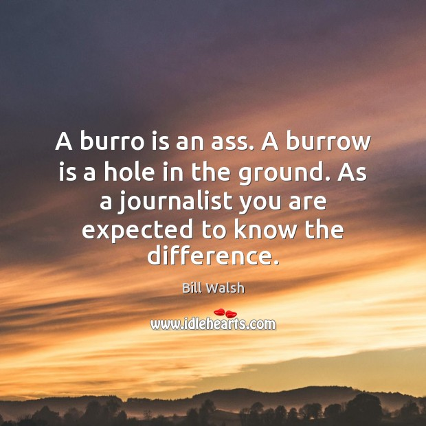 Image, A burro is an ass. A burrow is a hole in the