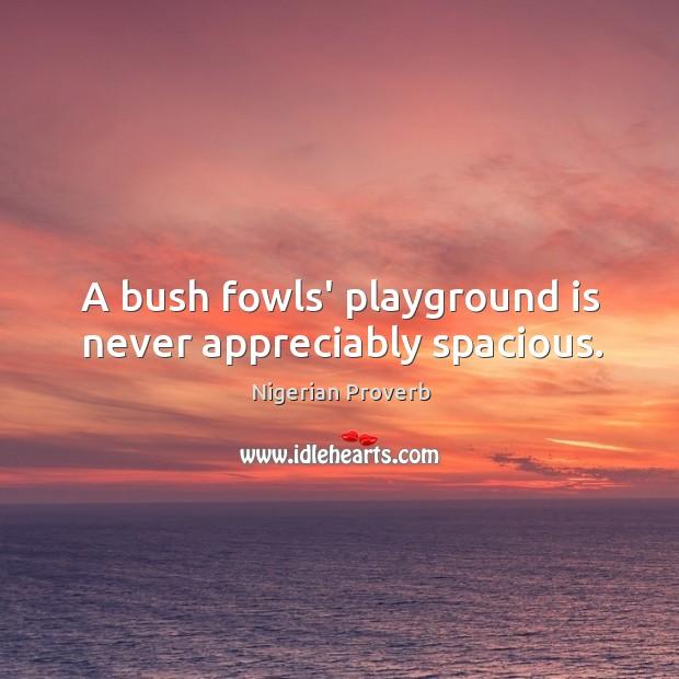 Image, A bush fowls' playground is never appreciably spacious.