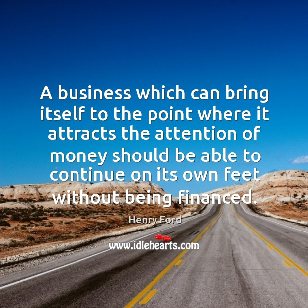 Image, A business which can bring itself to the point where it attracts