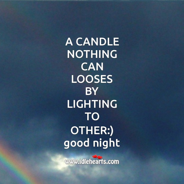 A candle nothing can Good Night Messages Image