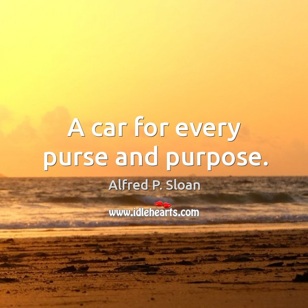 A car for every purse and purpose. Image