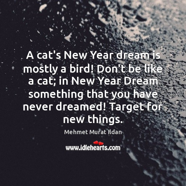 A cat's New Year dream is mostly a bird! Don't be like Image