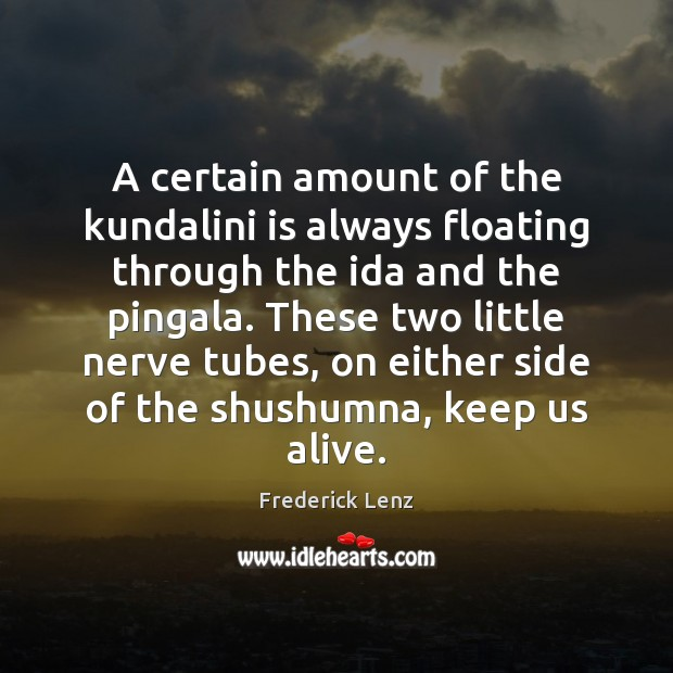 A certain amount of the kundalini is always floating through the ida Image