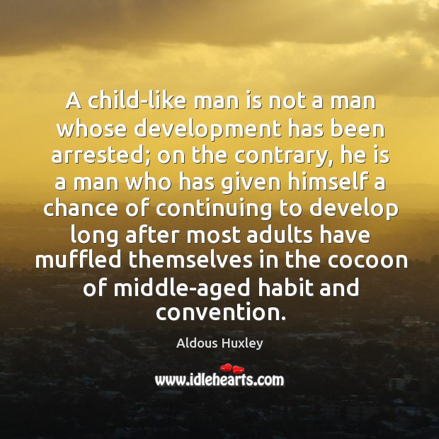 Image, A child-like man is not a man whose development has been arrested; on the contrary