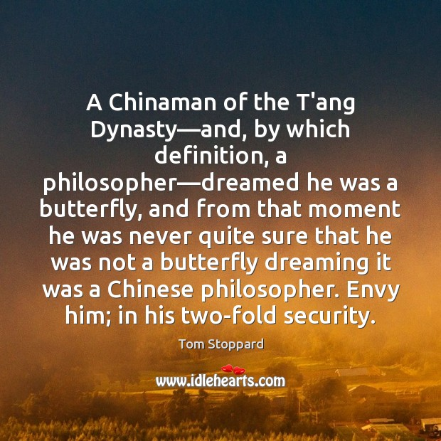 Image, A Chinaman of the T'ang Dynasty—and, by which definition, a philosopher—