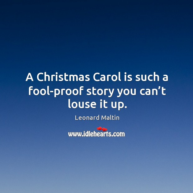 A christmas carol is such a fool-proof story you can't louse it up. Image