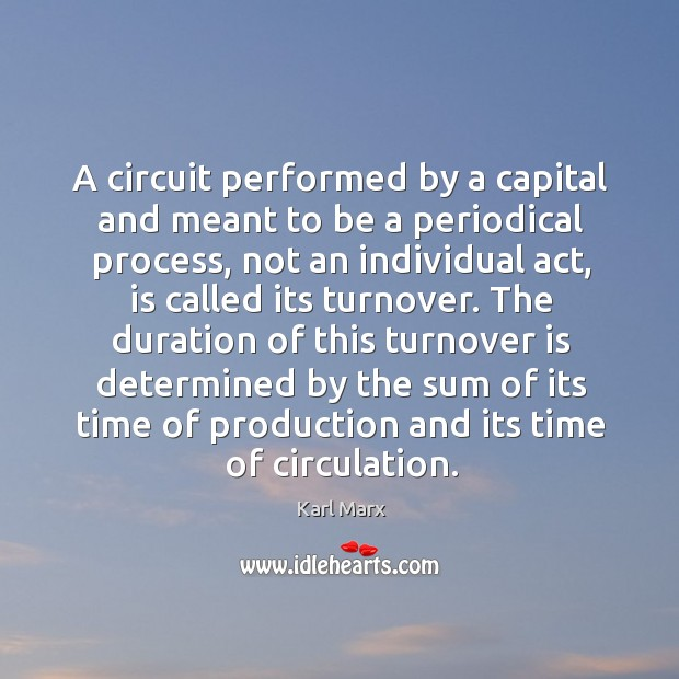 Image, A circuit performed by a capital and meant to be a periodical