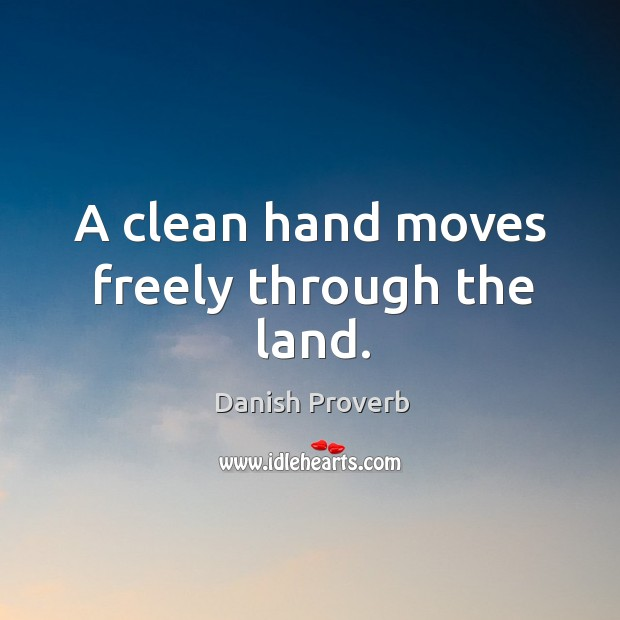 Image, A clean hand moves freely through the land.