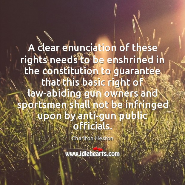 A clear enunciation of these rights needs to be enshrined in the Image