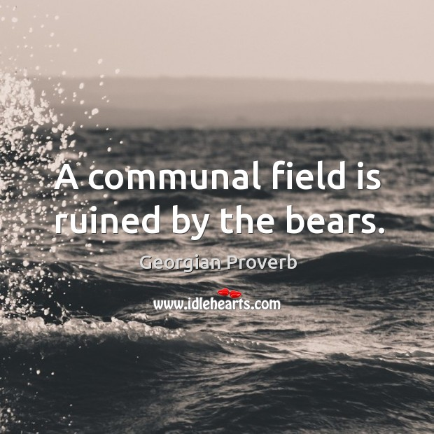 A communal field is ruined by the bears. Georgian Proverbs Image