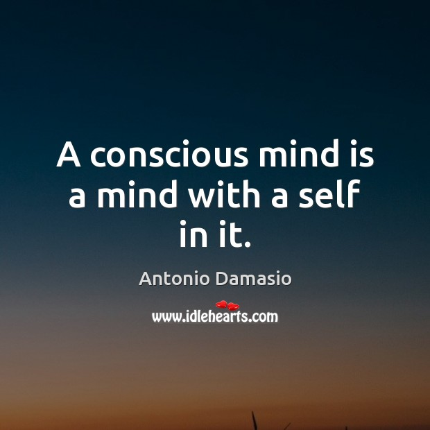 A conscious mind is a mind with a self in it. Image