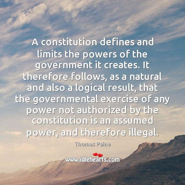 Image, A constitution defines and limits the powers of the government it creates.