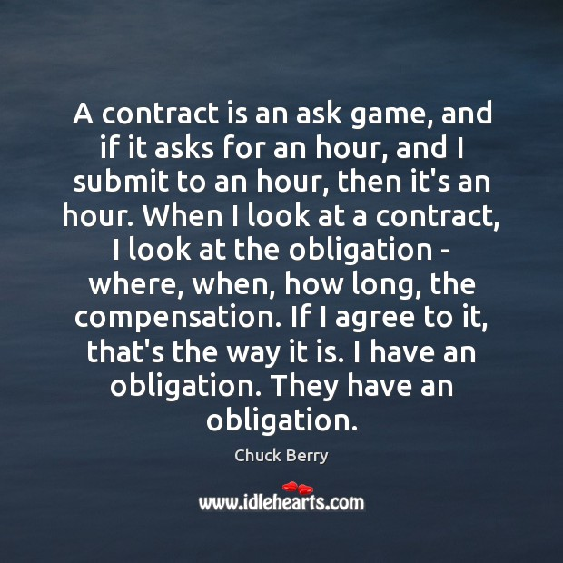 A contract is an ask game, and if it asks for an Agree Quotes Image