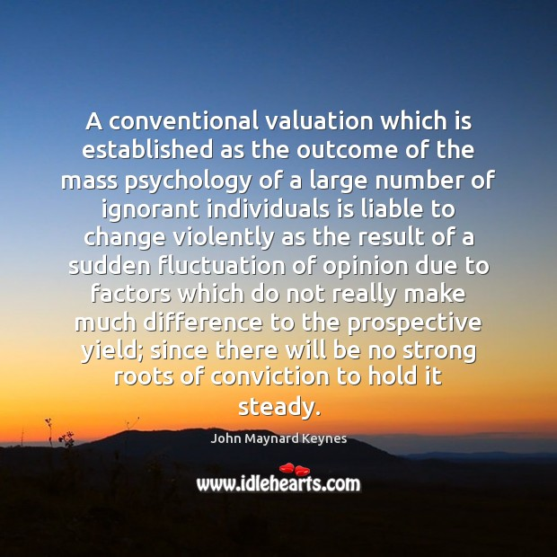 A conventional valuation which is established as the outcome of the mass Image