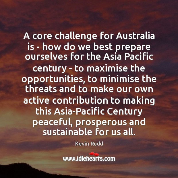 Image, A core challenge for Australia is – how do we best prepare
