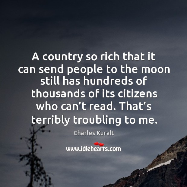 A country so rich that it can send people to the moon still has hundreds of thousands Image